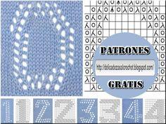 Delicadezas en crochet Gabriela: Tutorial : Numerología en dos agujas Del 0 al…