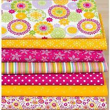 Patchwork- und Quiltpaket 'Mandala', orange/pink
