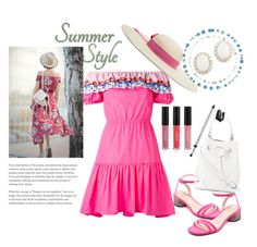 """""""Summer Style"""" by hillarymaguire ❤ liked on Polyvore featuring Sensi Studio, Peter Pilotto, Marc Jacobs, Furla, Kenneth Jay Lane, Trish McEvoy and Sigma"""