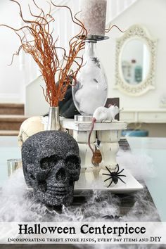 Perfectly Spooky Halloween Centerpiece Idea: Perfect for a Dinner Party read more: http://www.jolynneshane.com/halloween-centerpiece-idea-perfect-for-a-dinner-party.html
