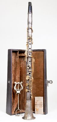 Clarinet in A (left) by C. G. Conn, Elkhart, Indiana, ca. 1890