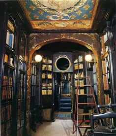 Victor Hugo's private library at Hauteville House, Guernsey