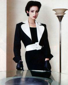 Yves Saint Laurent Rive Gauche, American Vogue, March 1986. Photograph by Gian Paolo Barbieri.