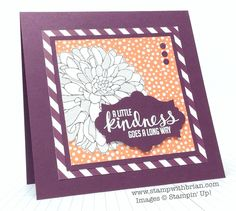 Regarding Dahlias, Kinda Eclectic, Stampin' Up!, Brian King, FabFri52