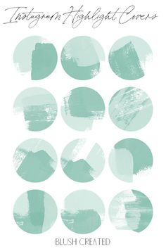 Update your Instagram profile with these stylish green paint stroke Instagram highlight covers. These stylish icons create a cohesive and fun look! | Blush Created