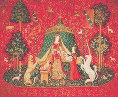 Cross Stitch Patterns - Fine Art - Lady With Unicorn #3 Desire Counted Cross Stitch Pattern