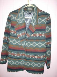 Braetan Blazer Aztec Coat Southwestern Western Sport Jacket Women's Size Small | eBay