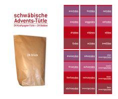 """Adventskalender - Adventskalender """"schwäbische Tütle"""" - ein Designerstück von dito-shop bei DaWanda"""