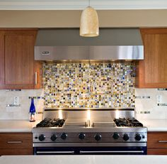 very cool modern look with the long/thin, square-set backsplash