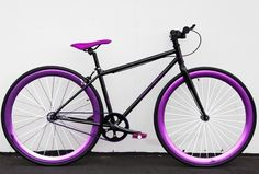 Fixie Road Bicycle 48cm w Deep 45mm Rims Grape Soda
