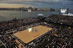 Reusar portaaviones Carl Vinson como cancha de baloncesto // #NCAA #carrier #basket #reuse
