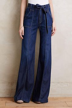 7 For All Mankind Palazzo Jeans - anthropologie.com
