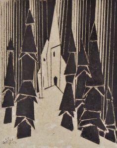 Lyonel Charles Feininger (1871 -1956) was een Amerikaanse kunstschilder en karikaturist. In het werk van Lyonel Feininger zijn sporen van kubisme, expressionisme,   zichtbaar. In 1886 werd hij naar Berlijn gestuurd om aan een conservatorium te studeren, hij had echter meer interesse in kunst. Feininger begon als schilder op de leeftijd van 36 (in 1907), na twintig jaar gewerkt te hebben als commerciële karikaturist.
