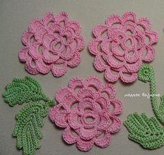 Вязание плоской розы крючком - Crochet Modnoe Vyazanie