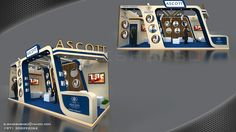 Exhibition Stands on Behance Exhibition Stall Design, Exhibition Space, Exhibition Stands, Kiosk Design, Display Design, Stand Design, 3d Design, Stand Feria, Boutique Interior