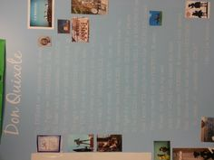 My favorite song from Man of La Mancha - To Dream the Impossible Dream... On the wall of my classroom :)