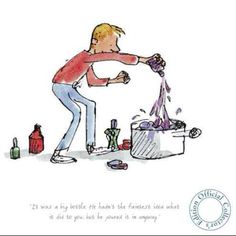 George from George's Marvellous Medicine, illustrates by Quentin Blake. :-) love