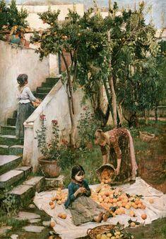The Orange Gatherers, John William Waterhouse