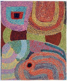 """Puli Murpu"" Ruby Williamson 2010 Size: 1.6 x 1.28m Materials: wool, cotton Weavers: Sue Batten and Emma Sulzer. Australian Tapestry Workshop. #tapestry"