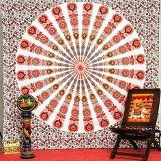 AL 0115 Mandala Tapestry wall hanging by MadeByMiKiShop on Etsy