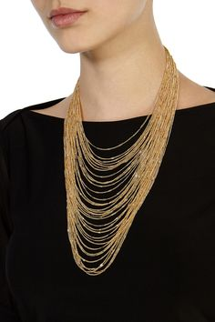Womens gold carmela multi chain necklace from Coast - £35 at ClothingByColour.com