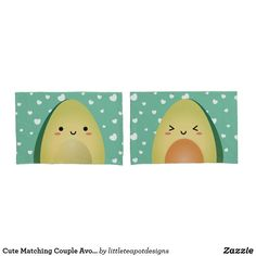 Shop Cute Matching Couple Avocados Funny Lets Avocuddle Pillow Case created by littleteapotdesigns. Teapot Design, Kawaii Gifts, Counting Sheep, Kawaii Couple, Funny Couples, Matching Couples, Valentine Day Gifts, Cuddling, Pillow Cases