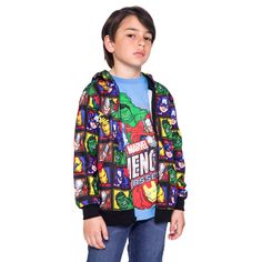 Boys Marvel Avengers 2-Piece T-Shirt & Hoodie Jacket