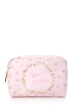 You Rule Cosmetic Pouch Makeup Pouch, Cosmetic Pouch, Makeup Bags, Lip Makeup, Forever 21, Shop Forever, Backpack Purse, Coin Purse, Emergency Bag