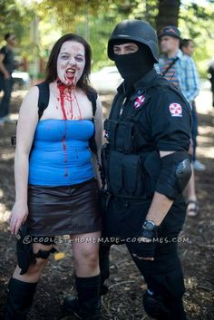 Resident Evil' Carlos Oliver and Jill Valentine Couple Costume... 2014 Halloween Costume Contest