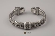 Viking Bracelet With Wolf's Head Scandinavian Arm Ring