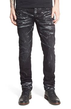 PRPS  Demon  Slim Straight Leg Jeans (Mandrill) Black Denim 649775e51bfdd