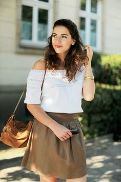 leather skirt_halb hoch