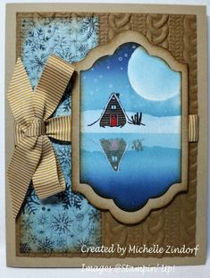 Winter Night Reflection Stampin' Up! Card created by Michelle Zindorf - Mountain Adventure