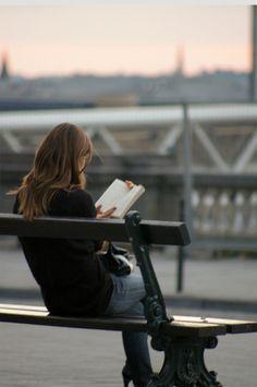 Reading a book City