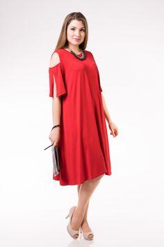 Φορεμα+σε++ελευθερη+γραμμη+με+κομψά+μανίκια-μεγαλα 995c4479790