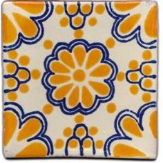 Mexican Tile // I love Central and South American tile patterns and colors! Mexican Home Decor, Mexican Art, Mexican Tiles, Clay Tiles, Mosaic Tiles, Talavera Pottery, Mexican Designs, Decorative Tile, Tile Art