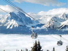 Skiing Lake Louise, Banff, Canada