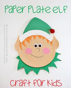 Paper Plate Elf by A