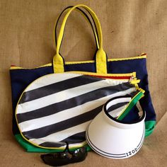 Retro Tennis Bag Tennis Racket Tote Sports Bag by ChattCatVintage
