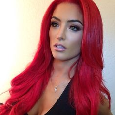 Red Hair!!! Love WWE Diva, Eva Marie's hair and make up style...