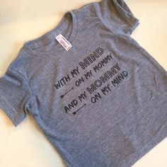 This Tee is printed on the super soft American Apparel Tri-blend Gray T-shirt.   Style this T-shirt with a cute pair of leggings and moccs, and your good to go!   Please allow 3-5 days before shipping.