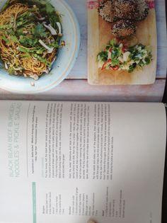 Jamie Oliver's Black bean beef burgers, noodles and pickle salad