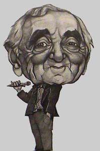 Charles Aznavour-illustration of  Gérard Eléouet                                                                                                                                                                                 Plus Realistic Drawings, Cool Drawings, Famous Armenians, Funny Caricatures, Cartoon People, High Art, Good Jokes, Art Plastique, Popular Culture