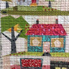 My Kinda Town #fiberworksquiltshop #lauraheine #roadtocalifornia #quilting #houses #housesforsale