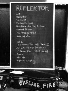 """LOOK: Arcade Fire Reveals Tracklisting For """"Reflektor"""" (Courtesy Of FILTER Twitter)"""