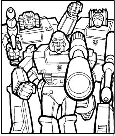 Megatron With Friends Coloring Picture For Kids