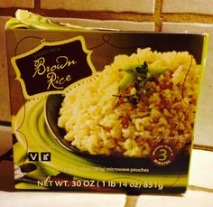 Trader Joes brown rice packets, microwaveable and ready in 3 minutes. Eat with veggies for a quick dinner.