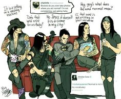 This is so fucking cool like  really plus Andy in a batman costume and Ashley with a Hello Kitty mug like oh my jinxx