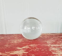 Check out this item in my Etsy shop https://www.etsy.com/listing/542513329/solid-glass-orb-crystal-ball-clear-glass