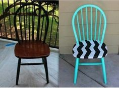 great idea for a plain old chair no longer in use......good style for a teen girl